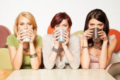 Women drinking coffee Royalty Free Stock Photos