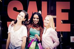 Young Women Shopping Stock Images