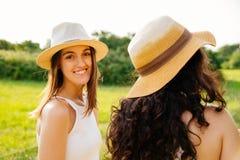 Young women enjoying nature Royalty Free Stock Image
