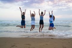 Young women enjoying summer Royalty Free Stock Images