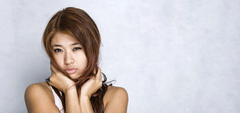 Young women - expression. Picture of young model with face expression Royalty Free Stock Photography