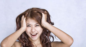 Young women - expression. Picture of young model with face expression Royalty Free Stock Image