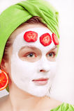 Young women with fase mask Royalty Free Stock Image