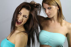 Young women fighting Royalty Free Stock Images
