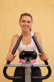 Young women in the fitness center Stock Image
