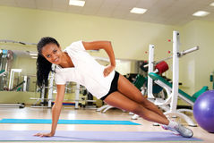Young women  at the fitness club Royalty Free Stock Photos