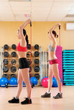 Young women in a fitness club Royalty Free Stock Image