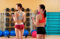 Young women in a fitness club Royalty Free Stock Images