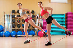 Young women in a fitness club Stock Photography