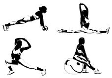 Young women fitness exercising Royalty Free Illustration