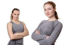 Young Women With Folded Arms Royalty Free Stock Images
