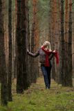Young women in forest Stock Image