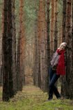 Young  women in forest Stock Photos