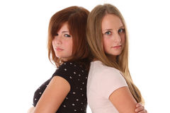 Young women friends - two fashion model Royalty Free Stock Photography