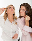 Young women getting ready Royalty Free Stock Photo
