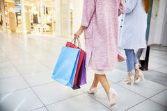 Young Women Going Shopping Royalty Free Stock Photography