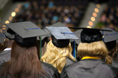 Young Women Graduating from College Stock Photo