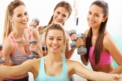 Young women group taking selfie at the gym after workout Royalty Free Stock Photo