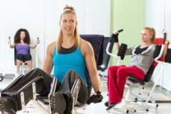Young women at the gym Royalty Free Stock Image