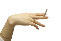 Young women hand with cigarete Stock Photography