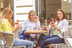 Young Women have Coffee Break Together Stock Photo