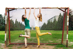 Young women having fun Royalty Free Stock Images