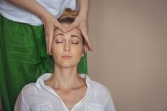 Young woman having massage treatment Royalty Free Stock Photo