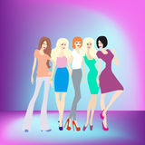 Young women having party Royalty Free Stock Photo