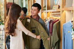 Shopping together Stock Photography