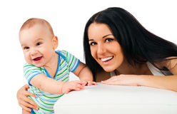 Young women with her son Royalty Free Stock Images