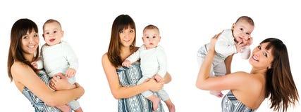 Young women with her son photos Stock Photos
