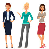 Young Women In Elegant Office Clothes Royalty Free Stock Photography