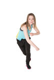 Young Women in joggers dancing and having fun Royalty Free Stock Image