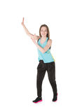 Young Women in joggers dancing and having fun Royalty Free Stock Photo