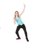 Young Women in joggers dancing and having fun Stock Photography