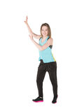 Young Women in joggers dancing and having fun Stock Image