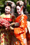 Young women in kimono dress Royalty Free Stock Photo