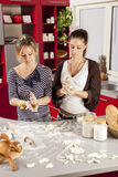 Young women in kitchen. Young women in the kitchen Royalty Free Stock Photo