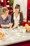 Young women in the kitchen. Young women preparing food in the kitchen Stock Photo