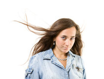 Young women with long hair Stock Images