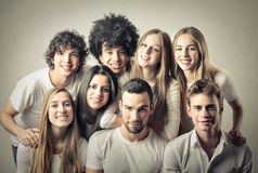 Young women and men Stock Photography