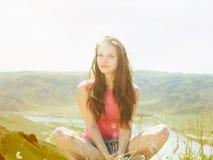 Young women at nature Stock Photos