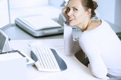 Young women in office Stock Photo