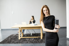 Young women in the office Royalty Free Stock Image