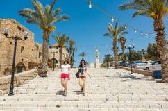 Young women in Old Jaffa, Tel Aviv, Israel Stock Image