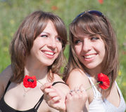Young women on open air Royalty Free Stock Photo