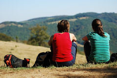 Young women outdoor royalty free stock photo