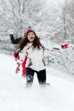 Young women outdoor in winter Royalty Free Stock Photos