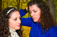 Young women in the park Royalty Free Stock Photos