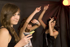 Young women on a party Royalty Free Stock Photo